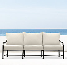 "75"" Carmel Luxe Sofa Painted Metal"