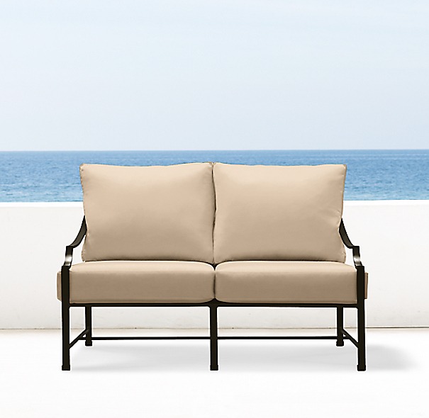 "51"" Carmel Luxe Sofa Painted Metal"