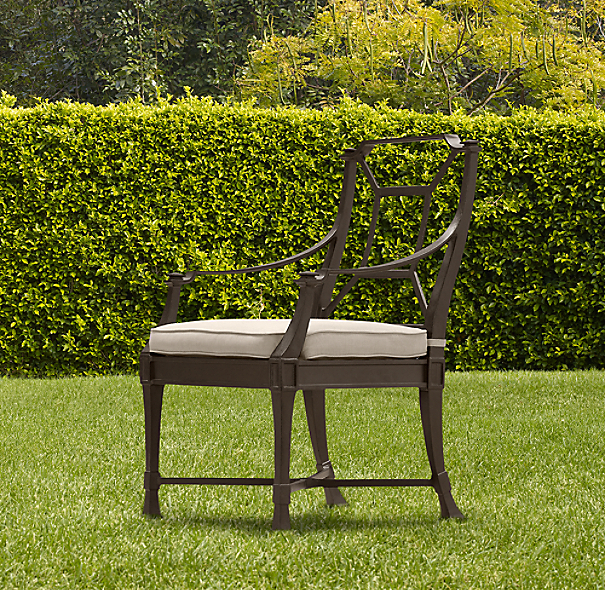 Antibes Armchair Painted Metal