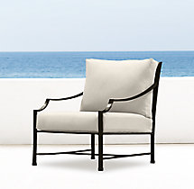 Carmel Luxe Lounge Chair Painted Metal