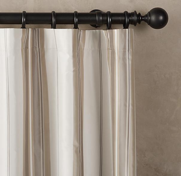 silk taffeta multistripe drapery