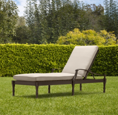 Furniture Outdoor Furniture Chaise Bronze Outdoor Chaise
