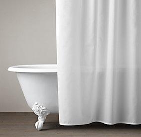 Cotton & Linen Shower Curtains