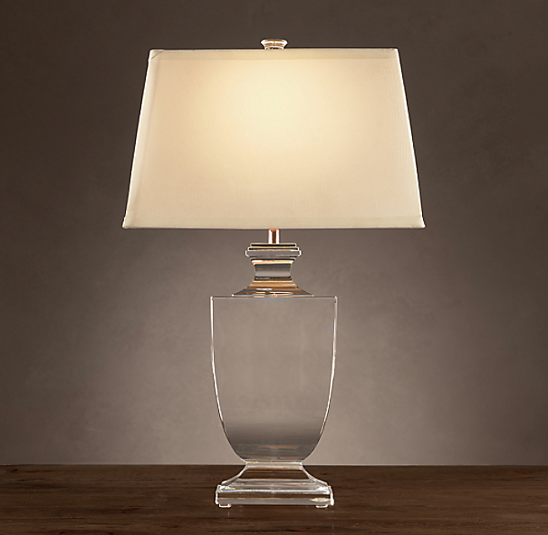 Palladian Crystal Urn Table Lamp