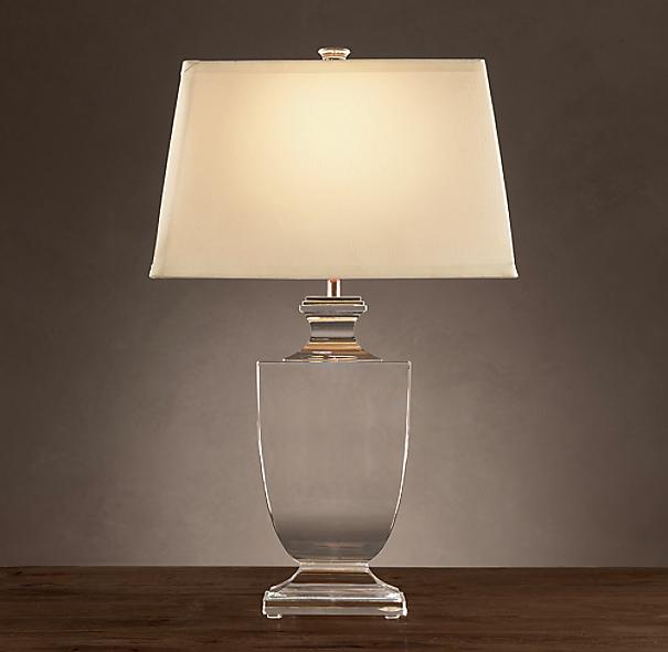 Palladian Crystal Urn Table Lamp