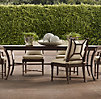 Antibes Rectangular Dining Set Painted Metal (Set of Table 2 Armchairs and 4 Side Chairs)