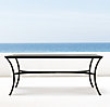 Carmel Rectangular Dining Table Painted Metal