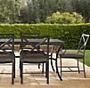 "72"" Carmel Rectangular Dining Set Painted Metal (Set of Table 2 Armchairs and 4 Side Chairs)"