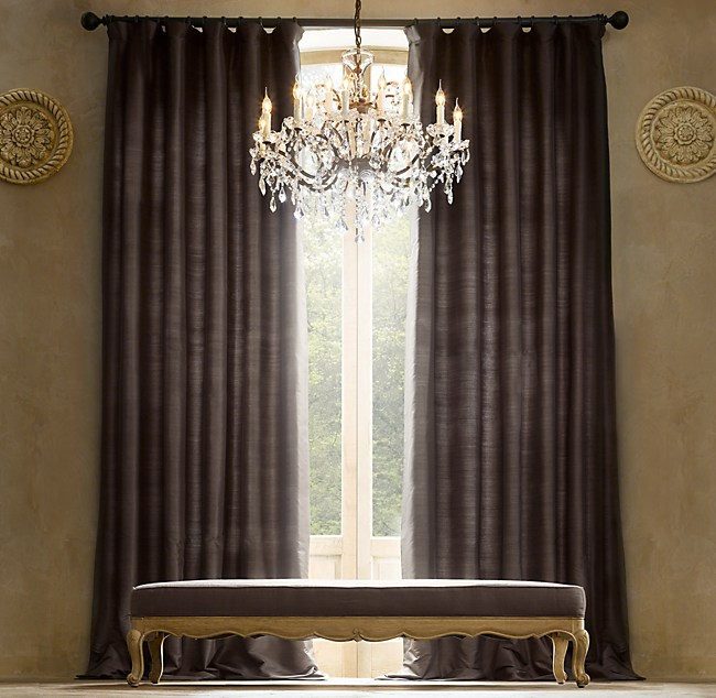3 x restoration hardware thai silk drapes 50 x 84 for Restoration hardware window shades