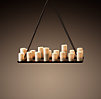 Pillar Candle Rectangular Chandelier Small