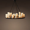 Pillar Candle Round Chandelier Small