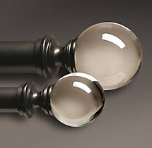 Estate Crystal Ball Finials Oil-Rubbed Bronze (Set of 2)