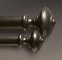 Estate Metal Trenton Finials (Set of 2)