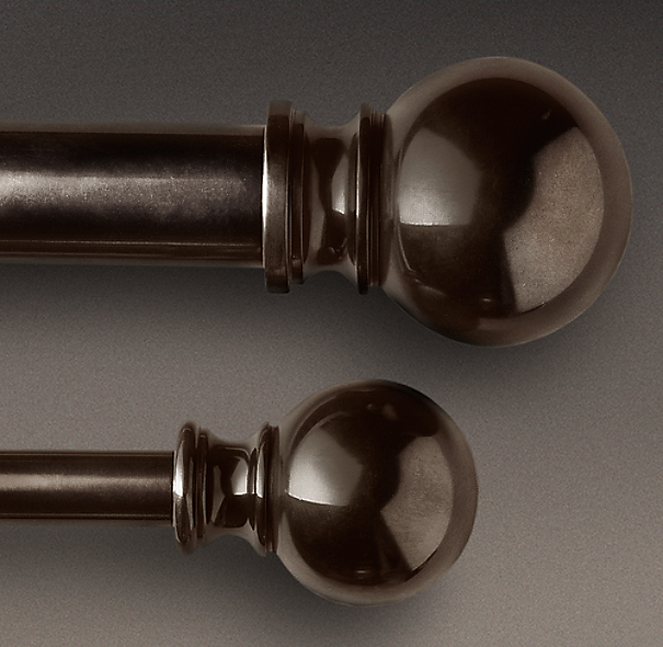 Bronze Ball Finial & Rod Set
