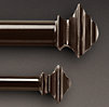 Bronze Square Finial & Rod Set