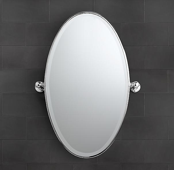 Vintage Oval Pivot Mirror