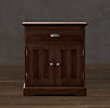 Marston Closed Nightstand (Set of 2 Closed) Dark Cherry