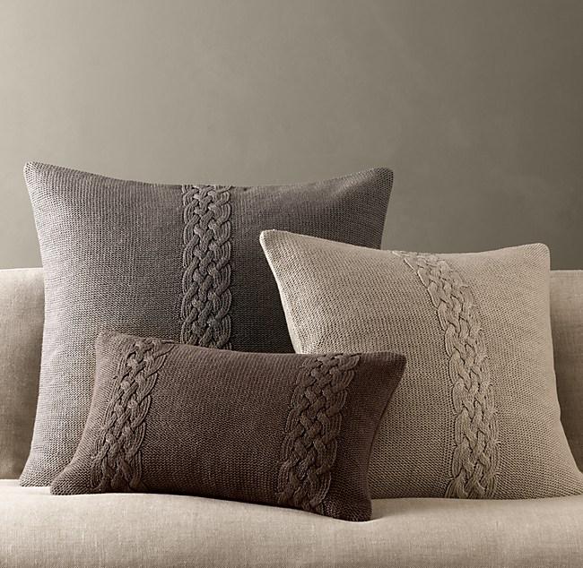 Belgian Linen Knit Pillow Covers