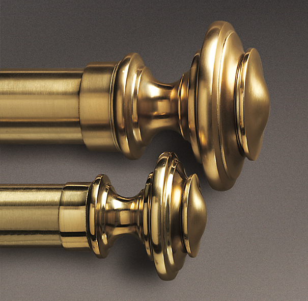 Estate Metal Newel Finials Brass (Set of 2)