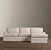 English Roll Arm Slipcovered Sofa Chaise Sectionals