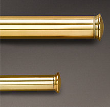 Estate Window Hardware End Cap Brass (Set of 2)