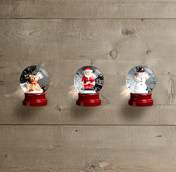 Mini Snow Globes Set Of 3