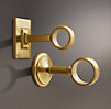 Estate End Brackets Brass (Set of 2)