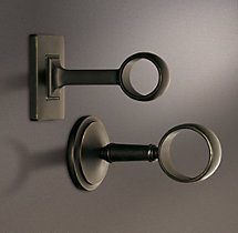 Estate End Brackets Oil-Rubbed Bronze (Set of 2)
