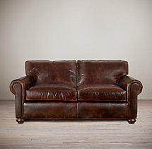 "60"" Lancaster Leather Sofa"