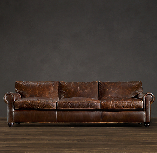 Classic Lancaster Leather Sleeper Sofa