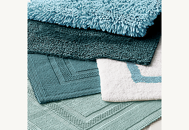 Fantastic  Bath Rug Aquamarine Reversible Bath Rug And Teal Plush Loop Bath Rug
