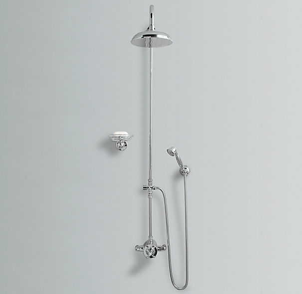 "Thermostatic Exposed Shower System (with 8"" Rain Showerhead and Handheld Shower)"