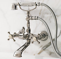 Wall-Mount Exposed Tub Fill and Handheld Shower Set
