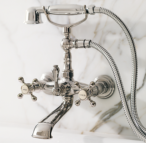 Wall Mount Exposed Tub Fill Handheld Shower