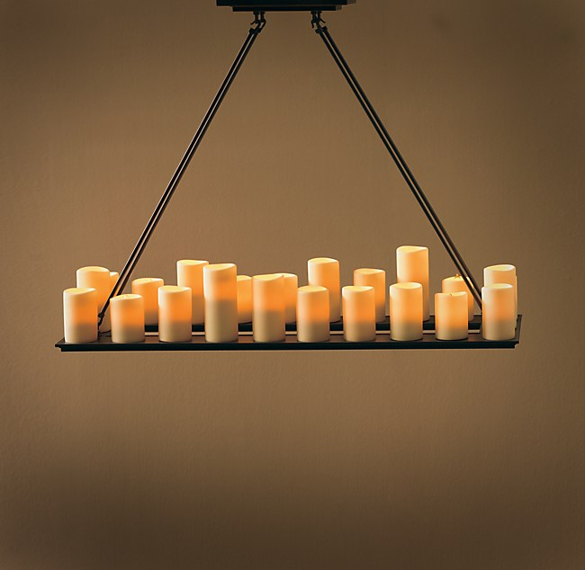 Pillar Candle Rectangular Medium Chandelier
