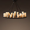 Pillar Candle Round Chandelier Medium