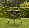Antibes Small Round Dining Table Painted Metal
