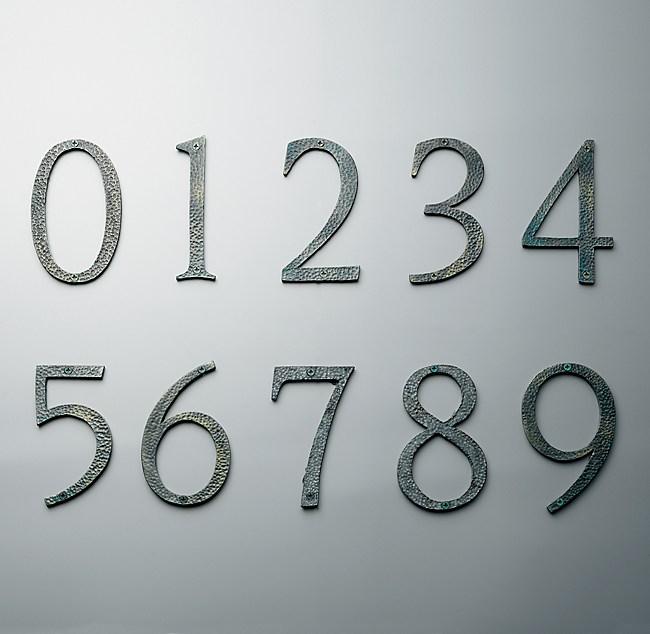 Verdi House Numbers