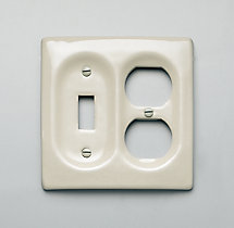 Ceramic Single Switch and Socket Plate