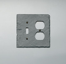 Slate Single Switch and Socket Plate