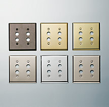Victorian Push-Button Double Switch Plate