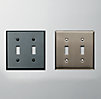 Metal Double Switch Plate