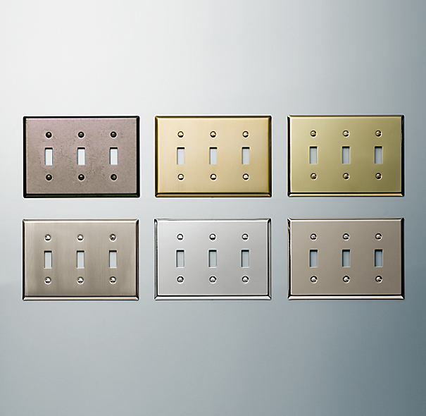 Metal Triple Switch Plate