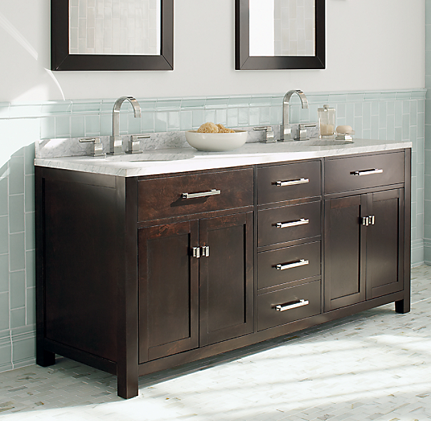 sink top shown in white italian carrara marble