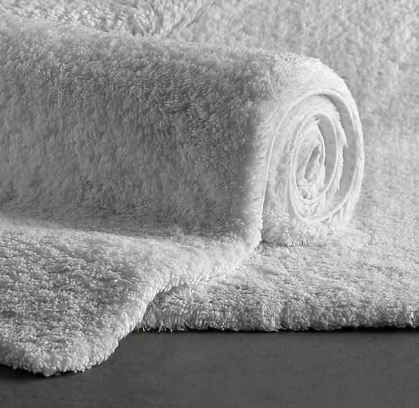 restoration hardware plush pile bathroom rug 21 x 36 pre owned white ebay