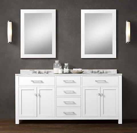6 finishes for Restoration hardware bathroom cabinets