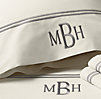 Italian Hotel Satin Stitch Ivory Sheet Set