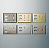 Metal Double Switch and Single Socket Plate Combo