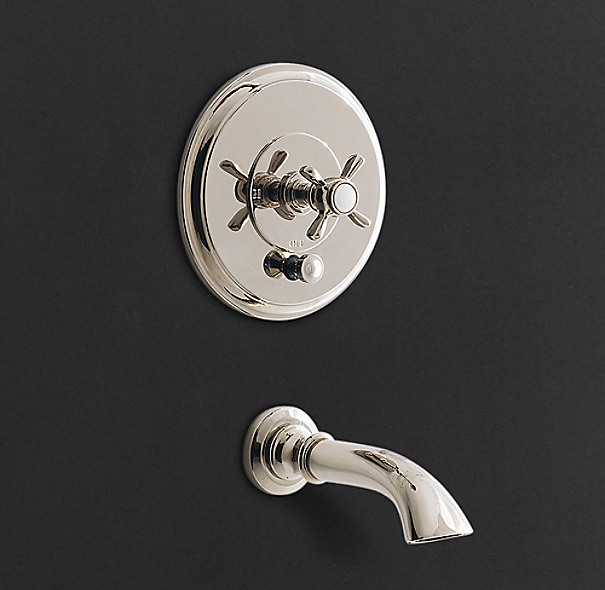 Lugarno Balance-Pressure Tub and Shower Valve & Trim Set (Backplate; Spout)