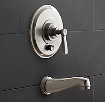 Asbury Balance-Pressure Tub and Shower Valve & Trim Set (Backplate; Spout)